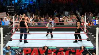 WWE 2K15 on PC Dean Ambrose vs Seth Rollins vs Roman Reigns  Legend