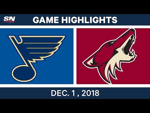 NHL Highlights   Blues vs. Coyotes - Dec 1, 2018