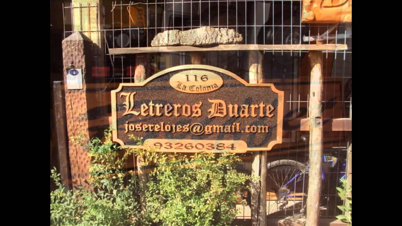 Letreros tallados duarte youtube for Fotos de bares de madera
