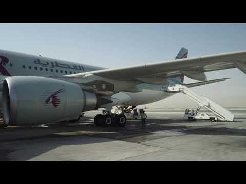 2018/03/21 Qatar Airways 1399 Announcement: Doha - Tunis