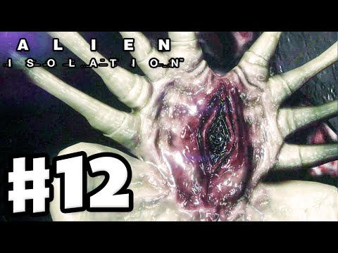 Alien: Isolation - Gameplay Walkthrough Part 12 - Facehugger Flashback! (PC Gameplay with Facecam)