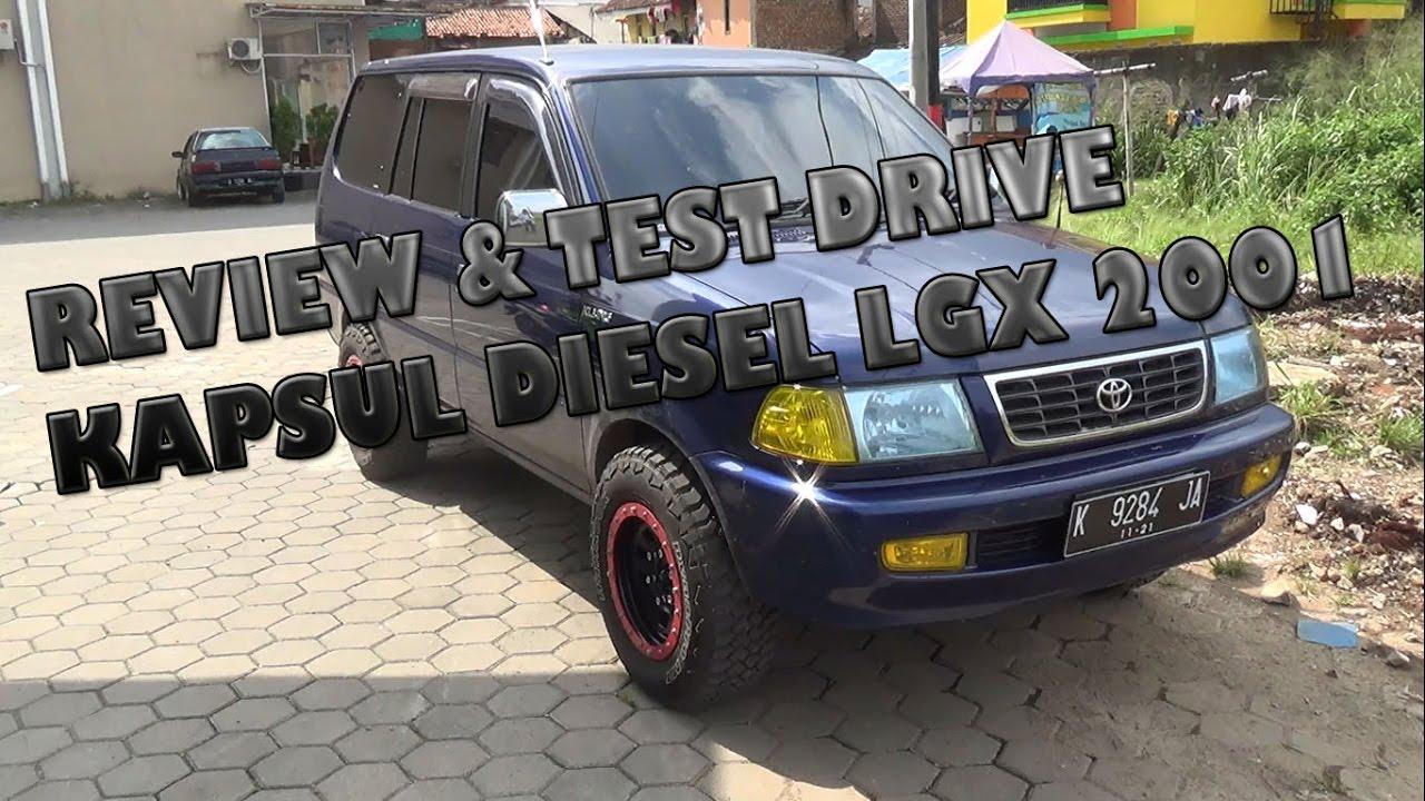 review & test drive toyota kijang lgx diesel tahun 2001 - youtube