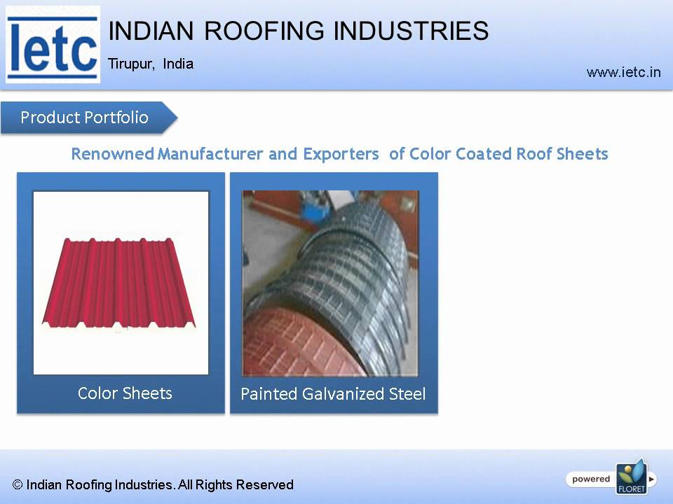 Industrial & Residential Roofing Materials Manufacturers and Suppliers in  Tirupur by Vinayagamurthy S