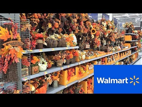 WALMART FALL DECOR THANKSGIVING HARVEST HOME DECOR - SHOP WITH ME SHOPPING STORE WALK THROUGH 4K