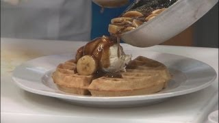 Wild Eggs' Bananas Foster Waffle