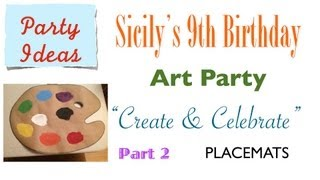 How to Make Easy Painter's Palette ART PARTY PLACEMATS - Part 2 of 12 {party ideas}
