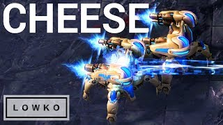 StarCraft 2: CHEESE vs CHEESE into CHEESE!
