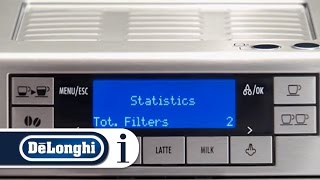 How to view statistics on your De'Longhi PrimaDonna XS ETAM 36.365 coffee machine