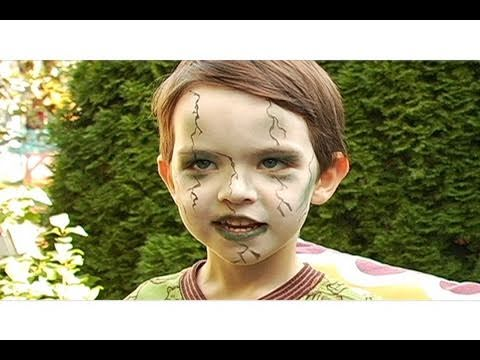 Zombie Makeup for Kids Halloween Tutorial - YouTube