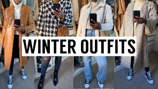 CASUAL WINTER OUTFITS | TOPSHOP ASOS ETC.. + GIVEAWAY WINNER