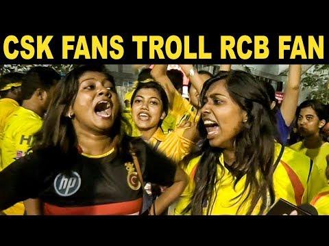 CSK Fans Trolls RCB Fan | CSK Vs RCB Match Public Reaction | Dhoni | IPL 2019