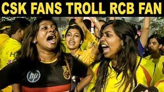 CSK Fans Trolls RCB Fan   CSK Vs RCB Match Public Reaction   Dhoni   IPL 2019