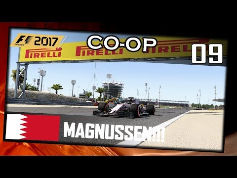 MAGNUSSEN, MAGNUSSEN! | F1 2017 Co-op #009 Bahrain(R)[German|HD+|PC|Wheel CAM]