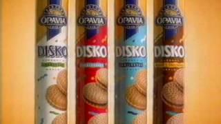 Disko sušenky Opavia - stará reklama z roku 1996