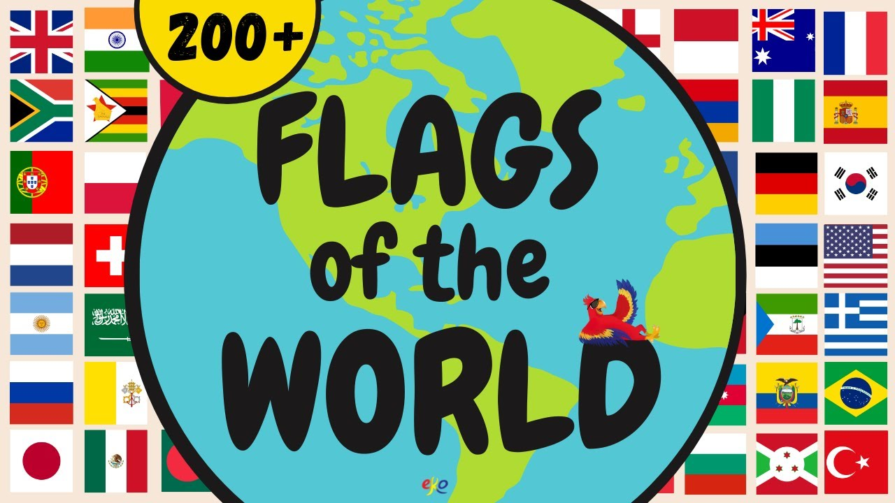 LEARN THE COUNTRY FLAGS OF THE WORLD ||| Learn the World Flags for Kids and Adults || Over 200 Flags