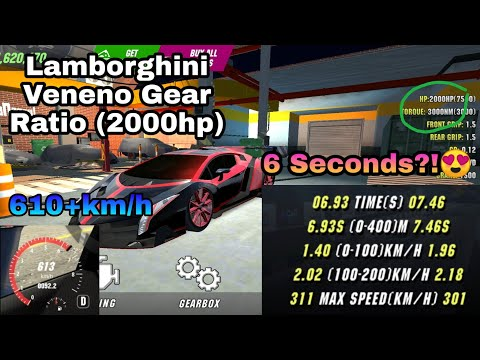 lamborghini-veneno-gear-ratio-(6-seconds🤩)-|-2000hp-|-car-parking-multiplayer-|-malaysia