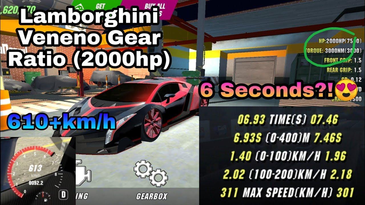 Lamborghini Veneno Gear Ratio 6 Seconds 2000hp Car Parking