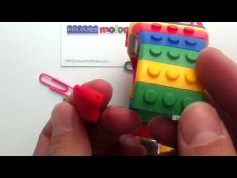 45cbd8979e20 Como ajustar tamaño Reloj Estilo Lego Shhors - YouTube