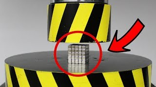 Download EXPERIMENT HYDRAULIC PRESS 100 TON vs Neodymium Magnet (100 Cube) Mp3 and Videos