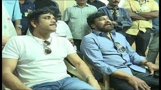 Chiranjeevi and Nagarjuna @ Film Chamber | MAA Elections 2019 | Naresh Vs Shivaji Raja | NTV