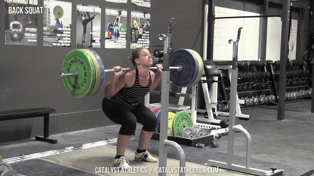 ba4f8a51583b0f Back Squat - Olympic Weightlifting Exercise Library - Catalyst Athletics