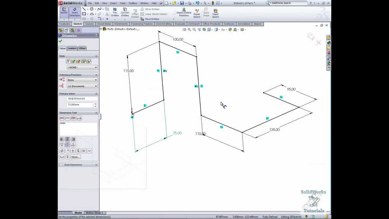 SolidWorks 3D Sketches Tutorial