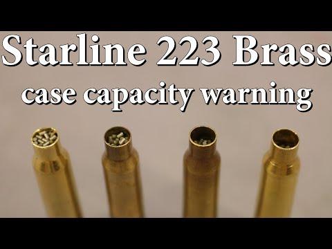 Starline 223 Brass - Case Capacity Warning