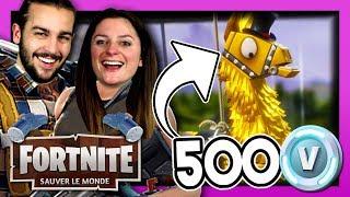 CE LAMA VAUT 500 VBUCKS ! | FORTNITE SAUVER LE MONDE DUO FR