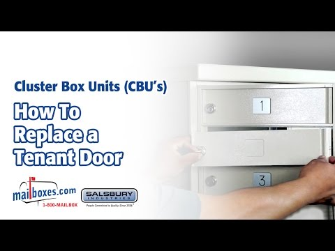 Mailboxes.com | How to Replace a Tenant Door for Cluster Box Unit Mailboxes