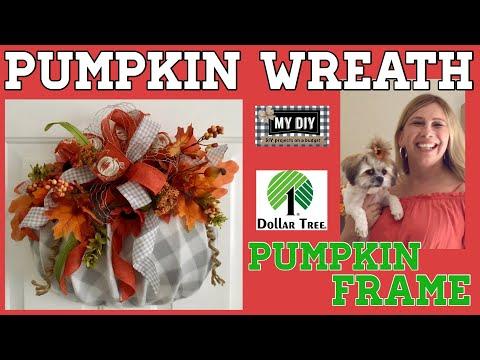 Pumpkin Wreath using Dollar Tree Pumpkin Frame | Dollar Tree DIY | BUDGET FRIENDLY!
