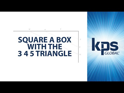 Square a Box with the 3 4 5 Triangle