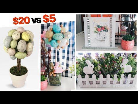 DOLLAR TREE DIYS | Easter + Spring FARMHOUSE DECOR | Target DUPE! | Sensational Finds