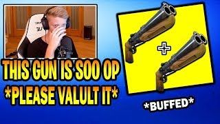 tfue react to double barrel shot gun (Fortnite Highlights)