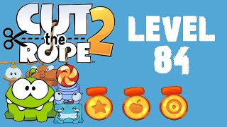 Cut the Rope 2 - Level 84 (3 stars, 61 fruits, 0 stars + don