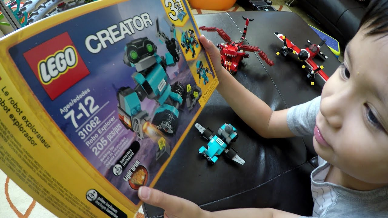 Playing With Lego Creator Robo Explorer 31062 Robot Toy 4k Youtube