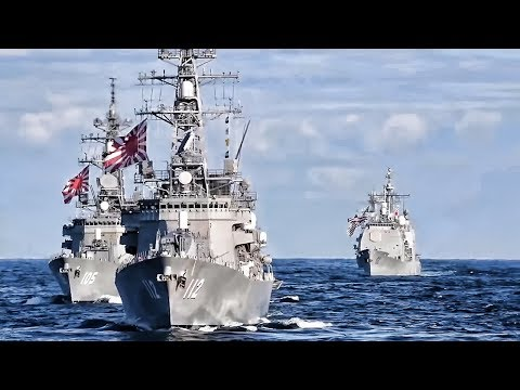Sea View Of 3 U.S. Carrier Strike Group Near North Korea
