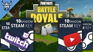 [PC] Fortnite Charity Stream - STEAM KEY GIVEAWAY (4 x 10 zufällige Tasten)