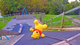 Playground Playing with  WINNIE THE POOH*Playing with Toys*Jugando con WINNIE THE POOH
