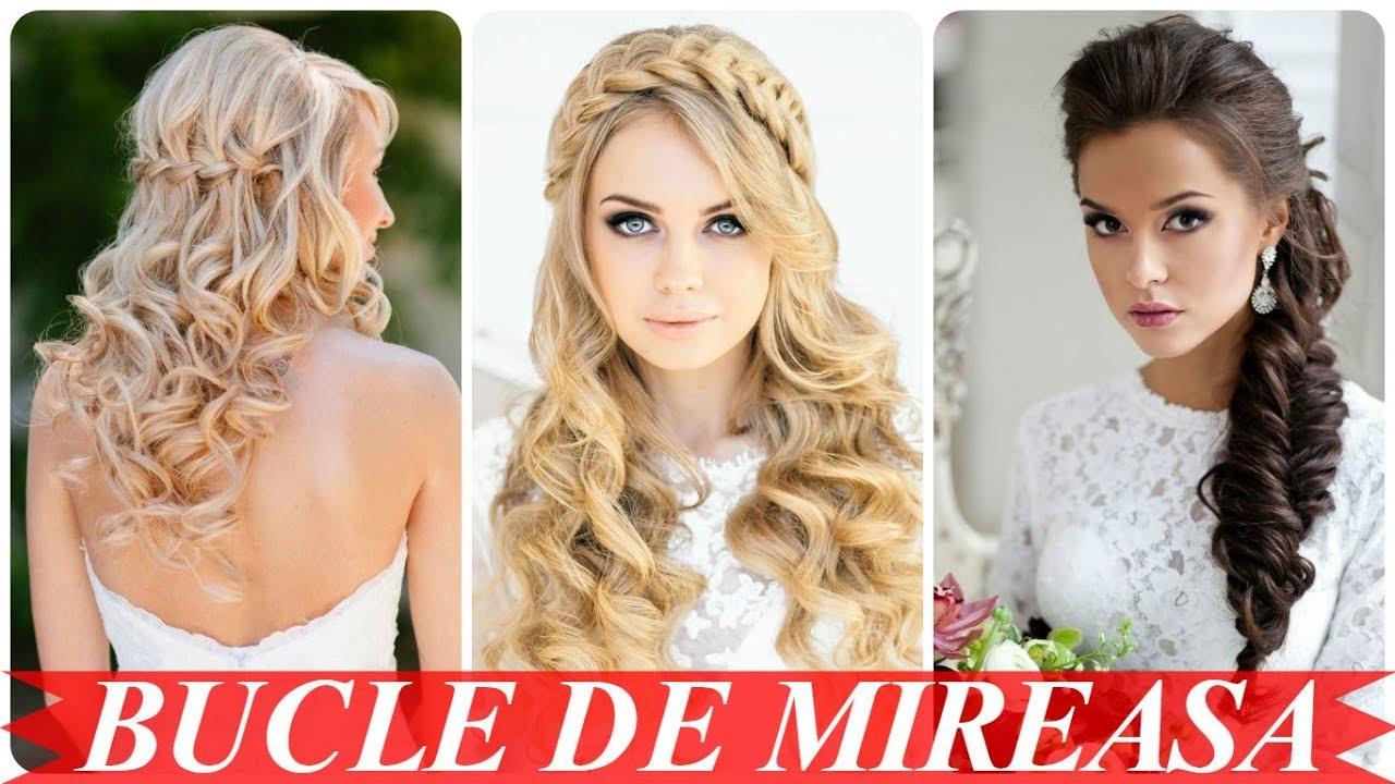 Modele De Coafuri Mireasa Cu Bucle 2018 Youtube