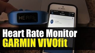 Garmin Vivofit - How to Add Heart Rate Monitor