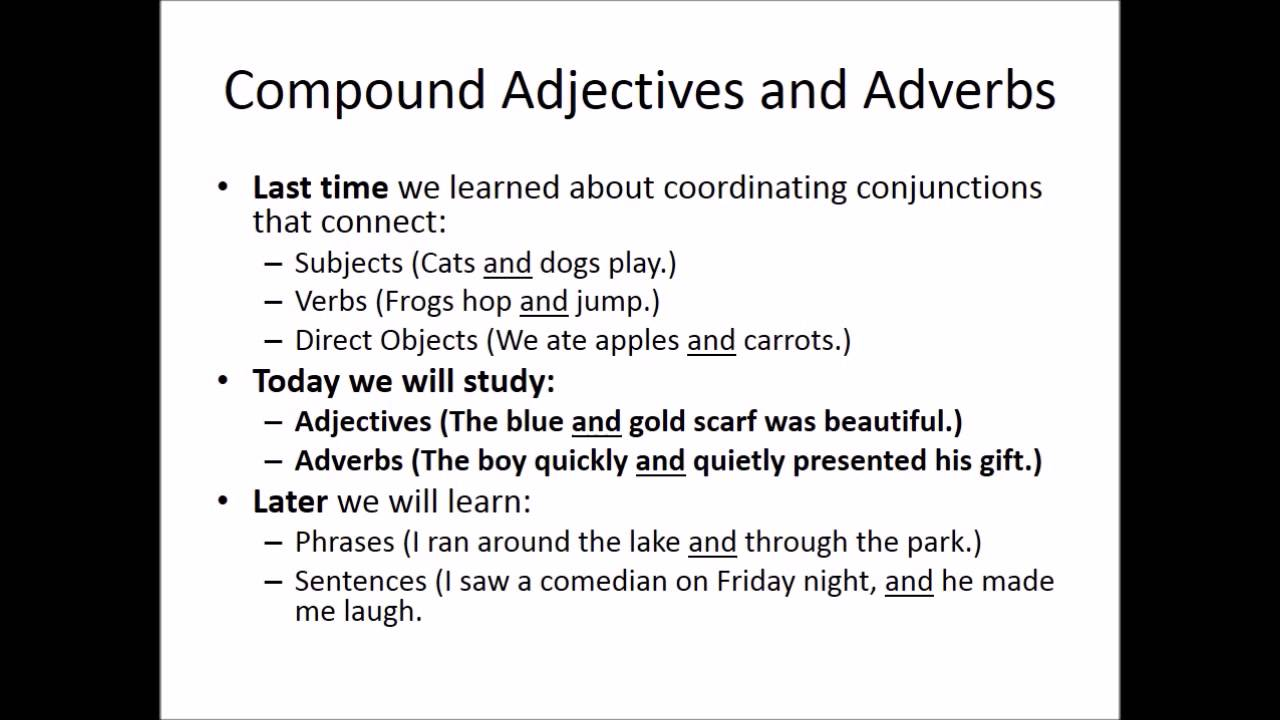 Diagramming compound adjectives and adverbs youtube ccuart Image collections