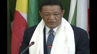 Opening Session of Ethiopian Parliament - October 10, 2016