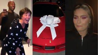 Kylie Jenner Surprising Kris Jenner with a Ferrari