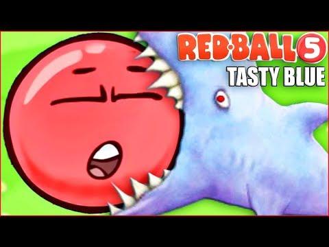 ГИГАНТ - КРАСНЫЙ ШАР ! МЫ ВСЕХ СЪЕЛИ ! Tasty Blue Red Ball ! Игровой мультик   !