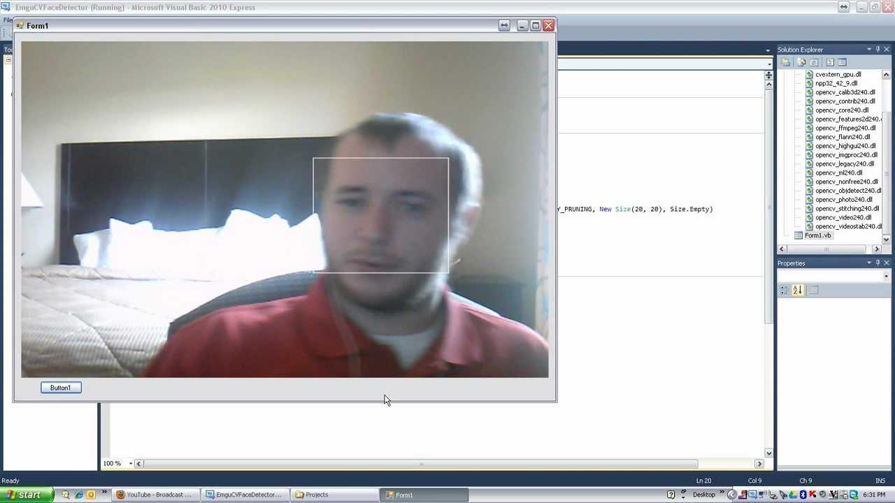 Visual Basic Shawty: Webcam and Face Detection
