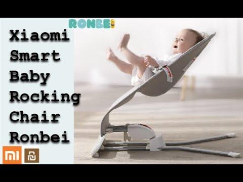 Xiaomi  Smart Baby Rocking Chair Ronbei Lobey умное детское кресло качалка