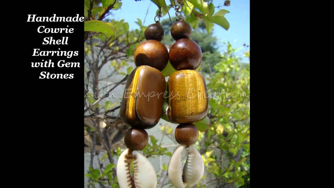 Cowrie Shell Earrings, Rings, Tribal Shawls Handmade