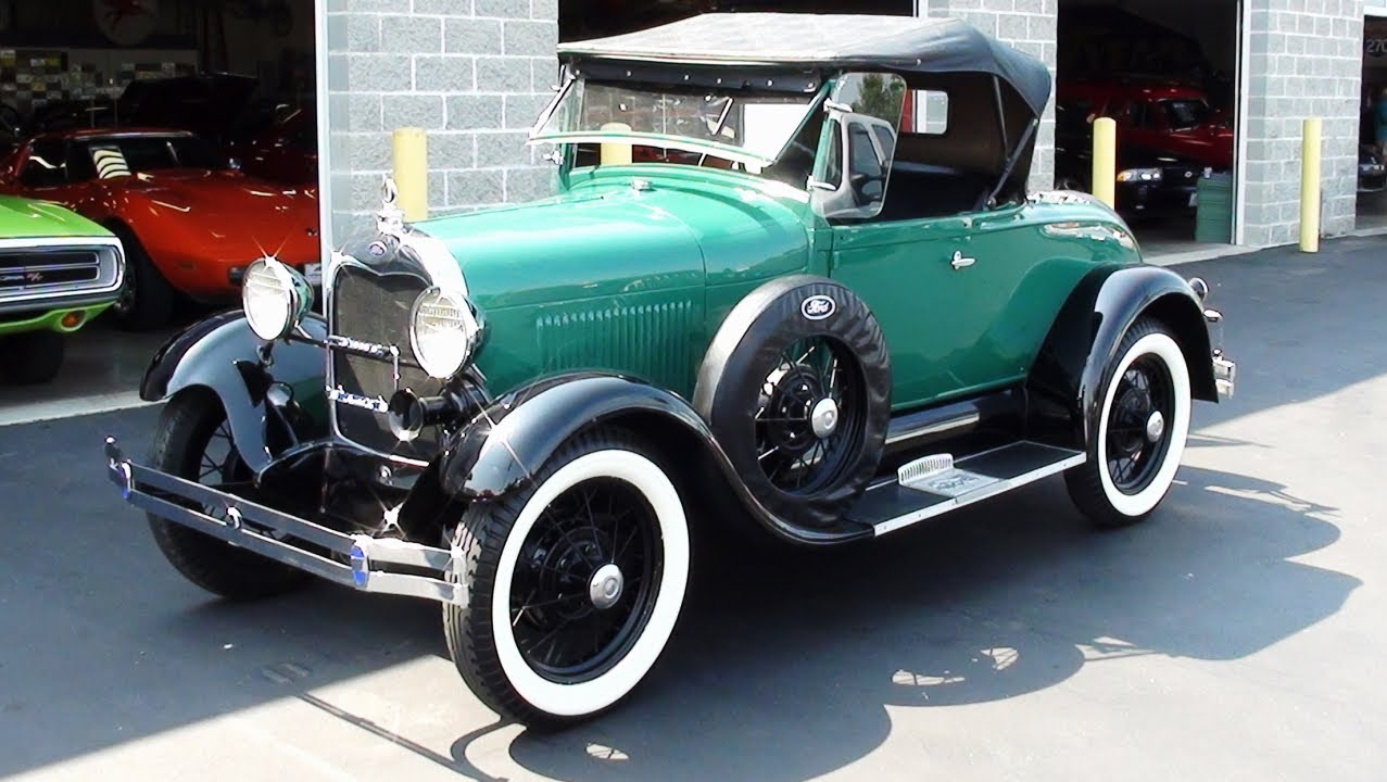 Start up and drive 1929 ford model a roadster flathead and rumble seat youtube