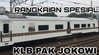 Presiden Jokowi ke Sukabumi naik Kereta Khusus Kepresidenan.
