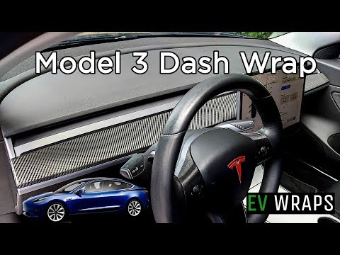 Tesla Model 3 Dash Wrap Installation